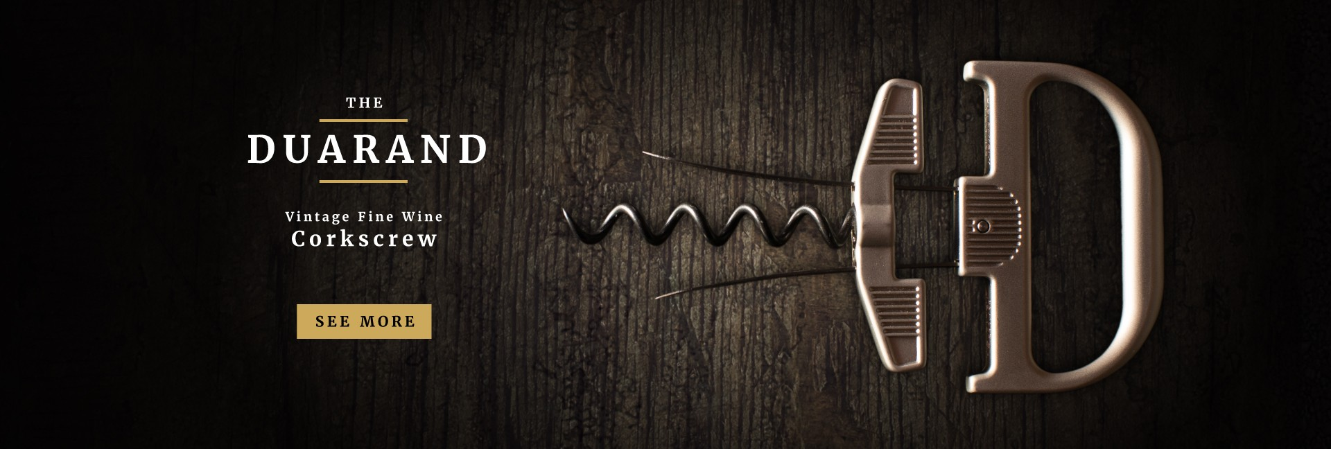 The Durand - Vintage Fine Wine Corkscrew
